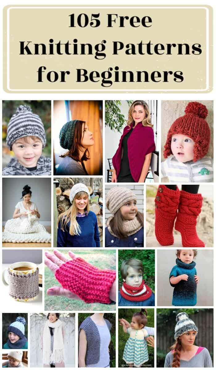 105 patrones de tejer fáciles y gratuitos para principiantes, patrones de tejer ravelry, patrones de tejer fáciles
