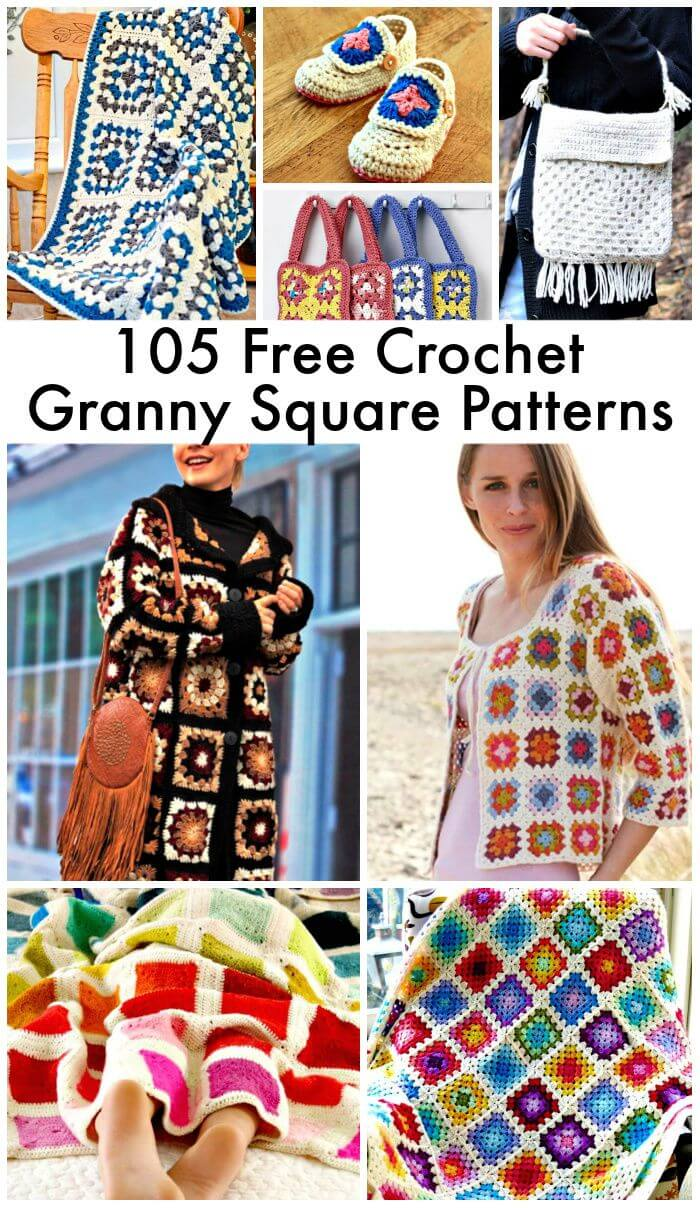 105 Free Crochet Granny Square Patterns, cómo crochet un granny square, patrón sólido de granny square, cómo hacer crochet granny square