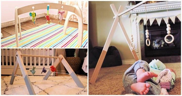 11 mejores ideas y planes de gimnasios de madera para bebés