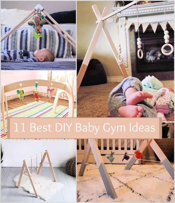 11 mejores ideas de gimnasia de madera para bebés de bricolaje