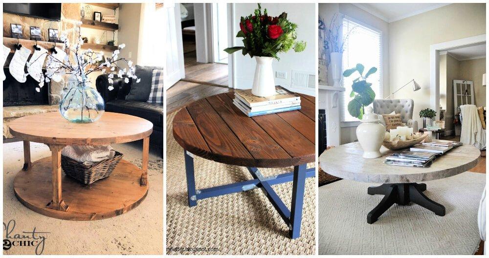 15 mejores ideas para mesas de centro redondas de bricolaje