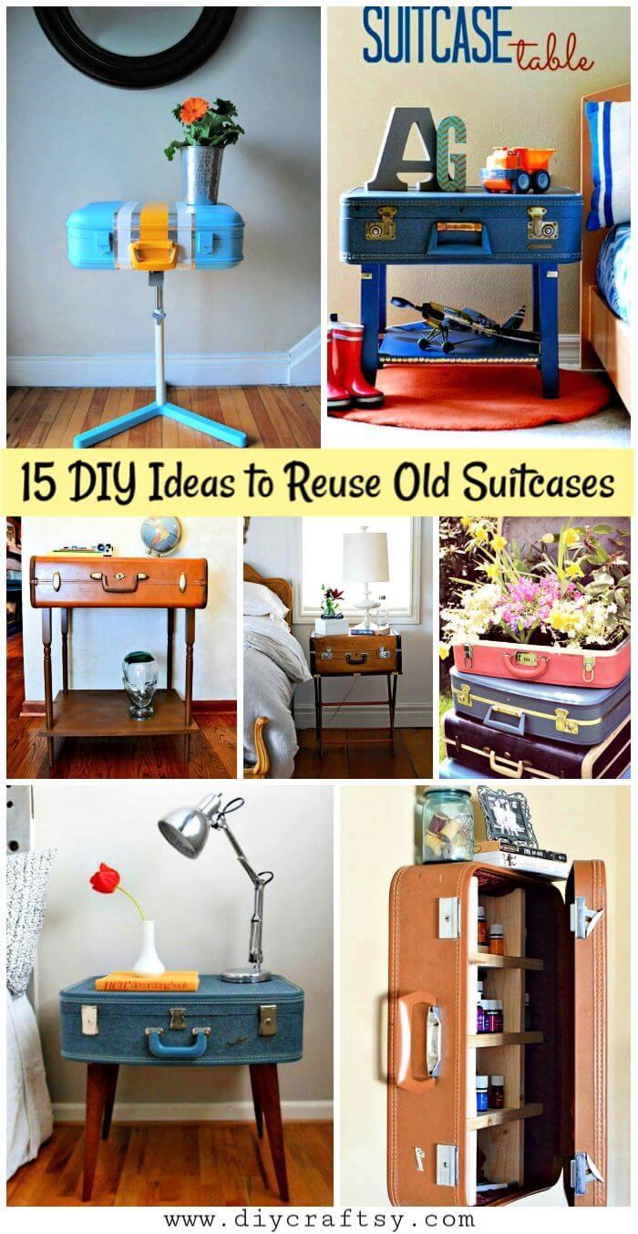15 ideas de bricolaje para reutilizar maletas viejas, formas creativas de reutilizar una maleta vieja, reutilizar maletas viejas