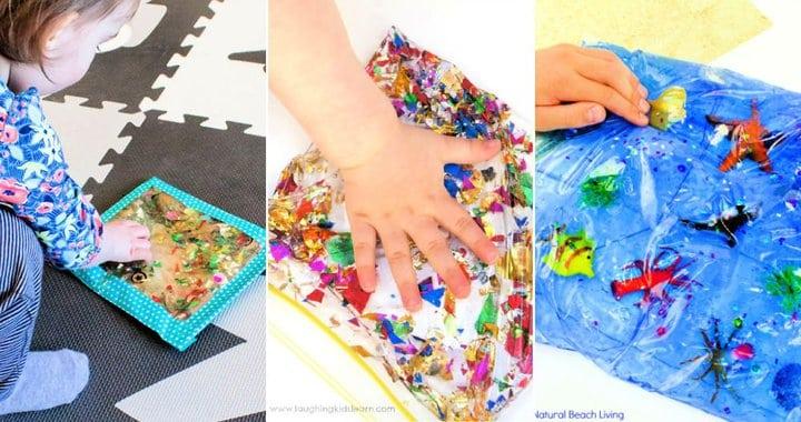 15 bolsas sensoriales fáciles de hacer para niños
