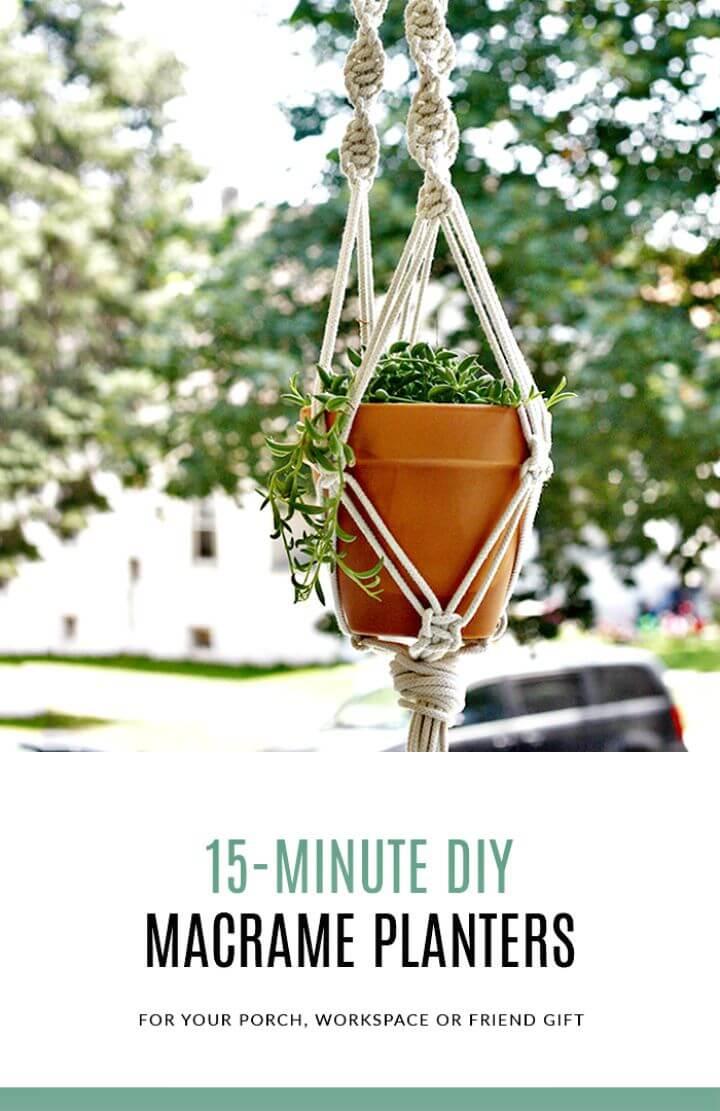 Colgadores de plantas de macramé de bricolaje en 15 minutos