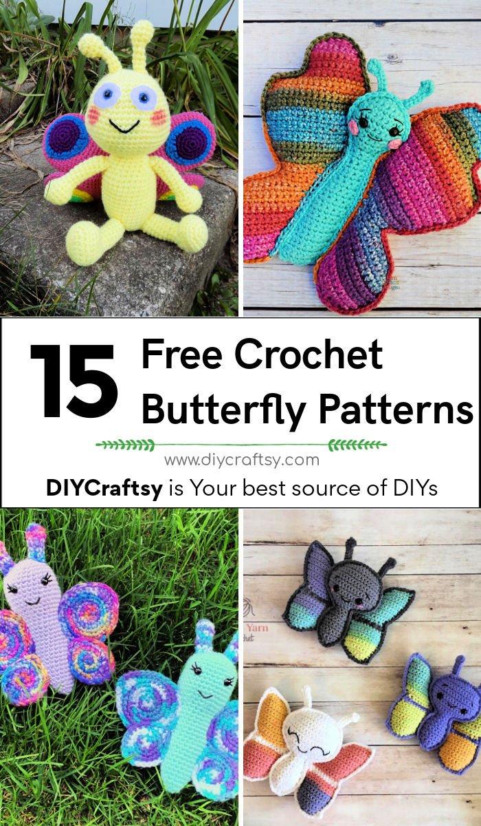 15 patrón de mariposa de ganchillo gratis