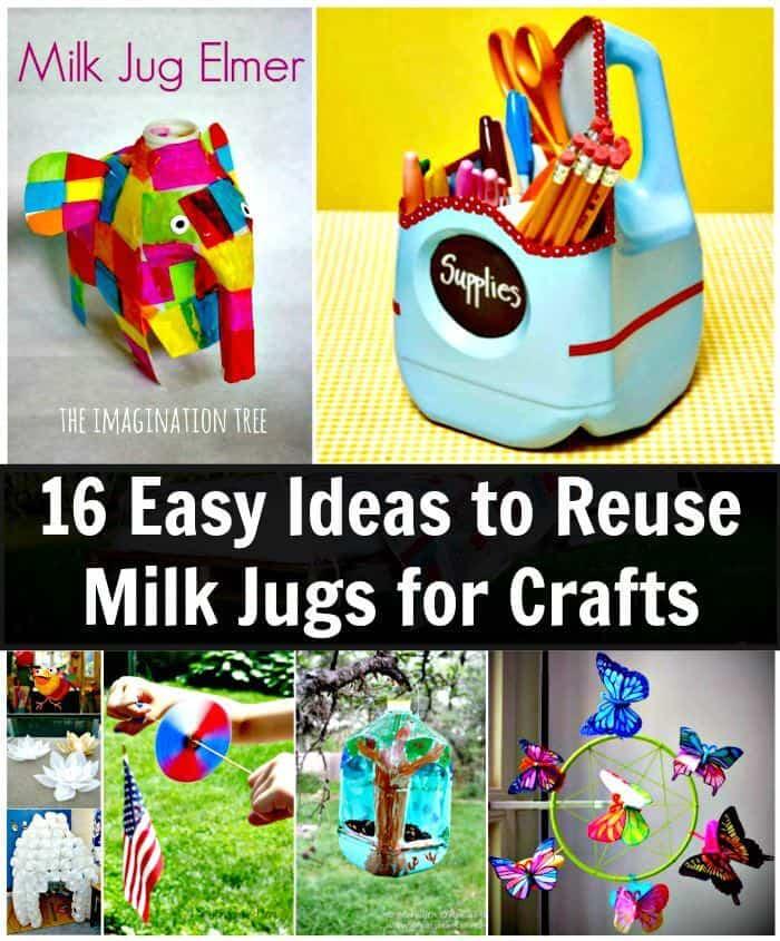 16 ideas fáciles para reutilizar jarras de leche para manualidades, proyectos de bricolaje, manualidades de bricolaje, ideas de manualidades fáciles para niños