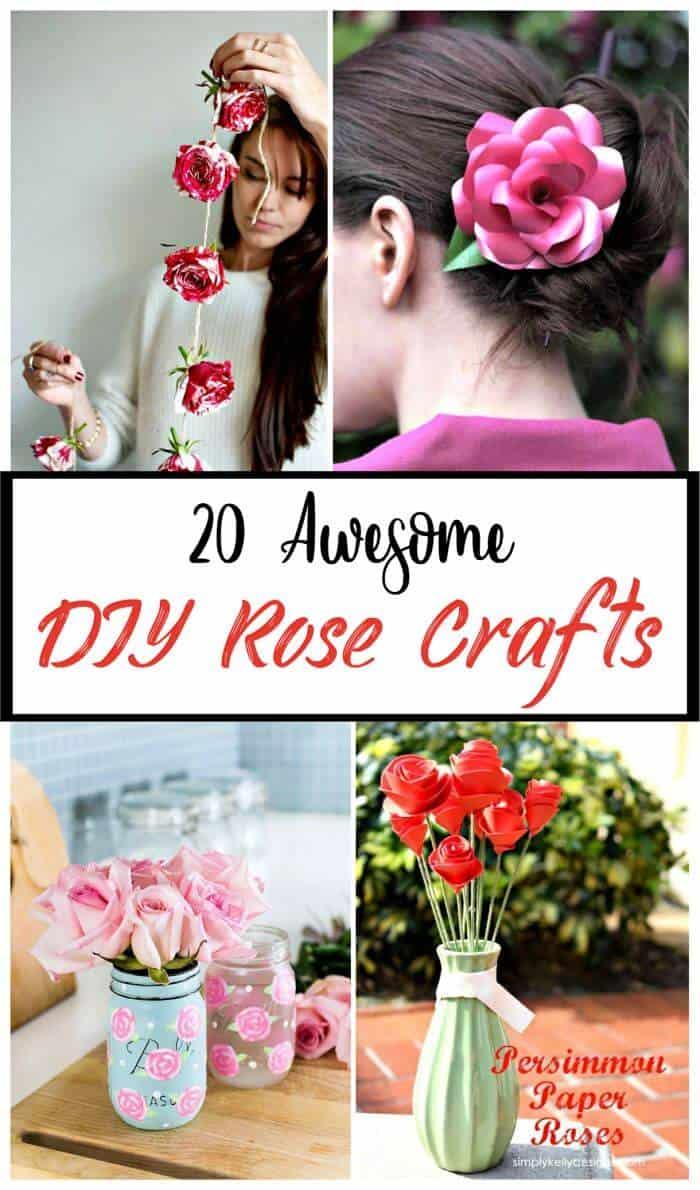 20 increíbles manualidades con rosas, manualidades con flores, manualidades, ideas de decoración del hogar, proyectos de bricolaje y moda de bricolaje