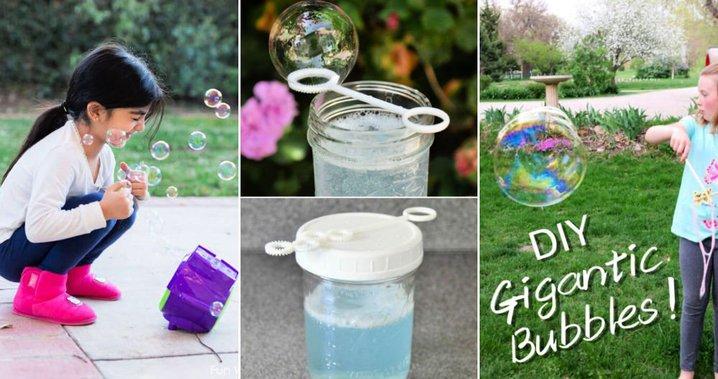 20 formas de hacer burbujas en casa