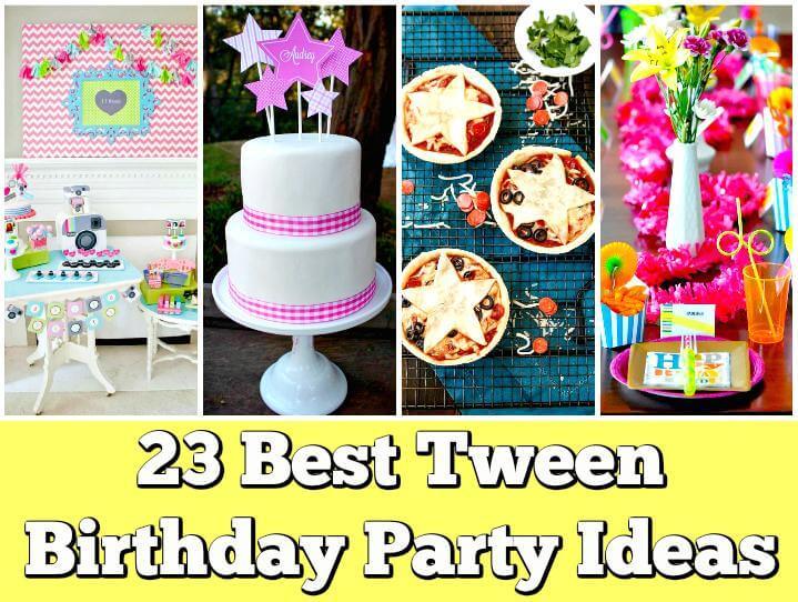 Ideas de fiesta de cumpleaños de tween