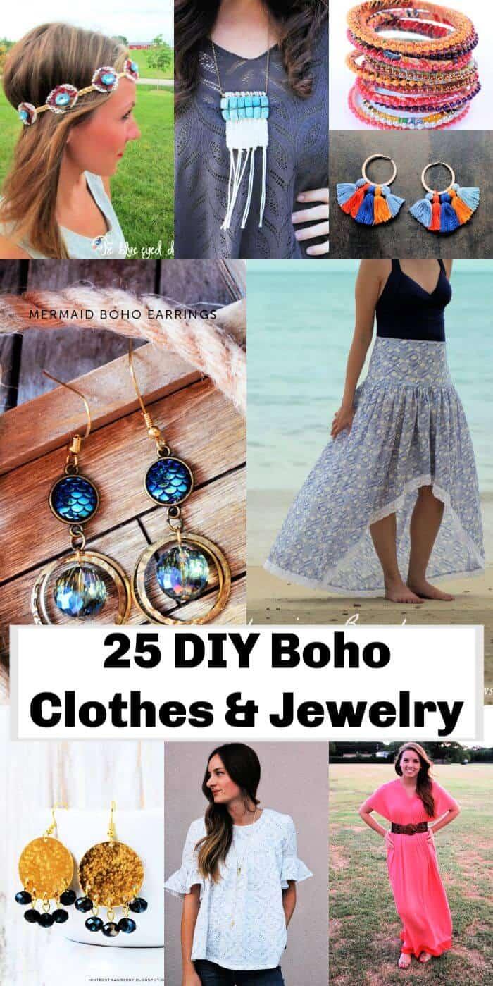 Los 25 mejores proyectos de joyería y ropa boho de bricolaje