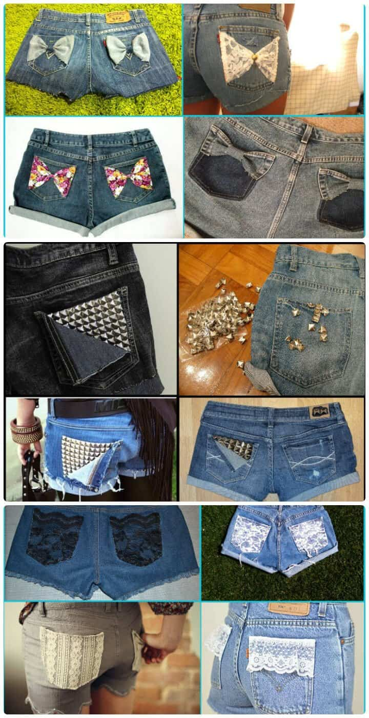 3 ideas de bricolaje para personalizar tus pantalones cortos