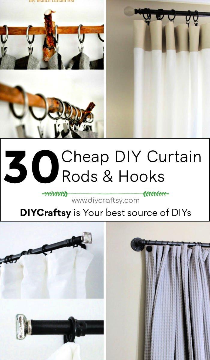 30 varillas y ganchos de cortina de bricolaje baratos para redecorar interiores