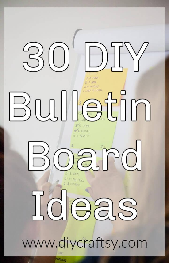 30 ideas de tableros de anuncios de bricolaje