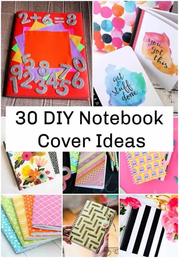 30 ideas de portada de cuaderno de bricolaje, cuadernos de bricolaje, manualidades de bricolaje, manualidades para niños