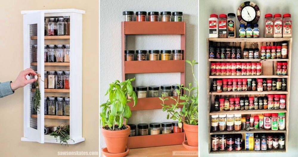 30 ideas baratas de estante de especias de bricolaje: la mejor manera de organizar las especias