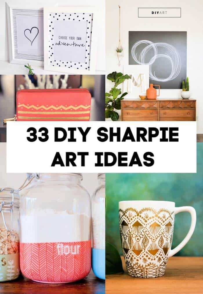 33 ideas creativas de arte de bricolaje con Sharpie, bolígrafos, marcadores, manualidades, manualidades para niños, proyectos fáciles de bricolaje