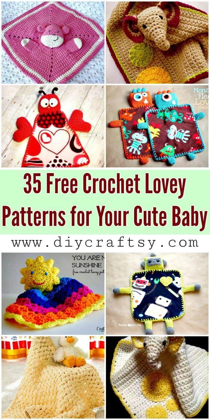 35 patrones de ganchillo Lovey gratis para su lindo bebé - Patrones de manta de ganchillo Lovey - Manualidades de bricolaje