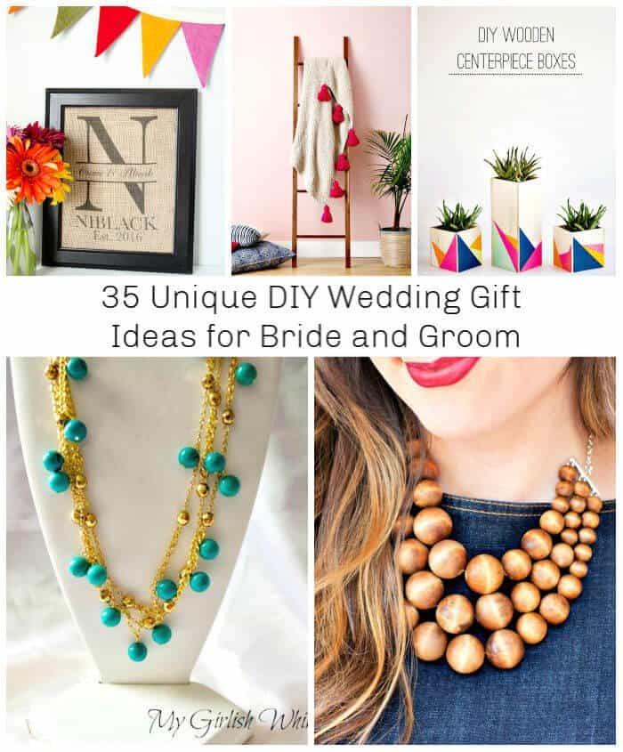 35 ideas únicas de regalos de boda de bricolaje para novios