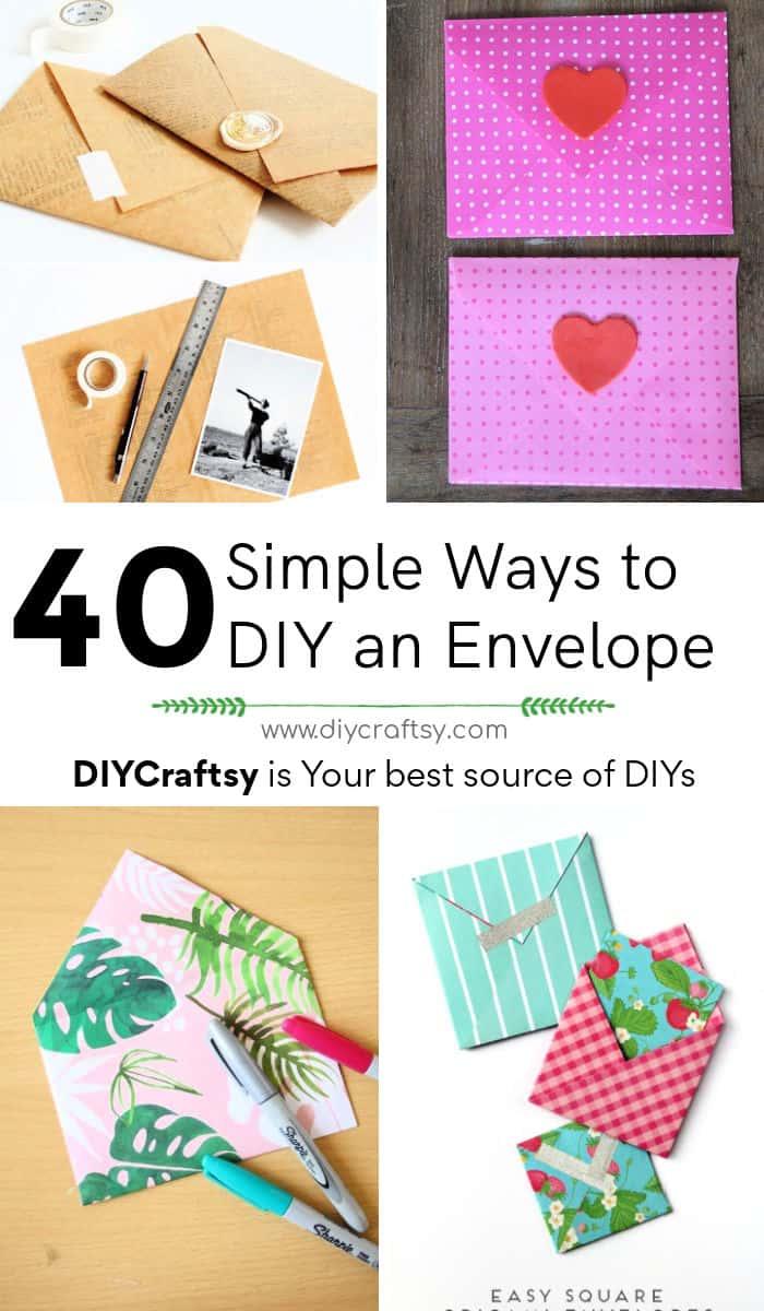 40 formas sencillas de hacer un sobre