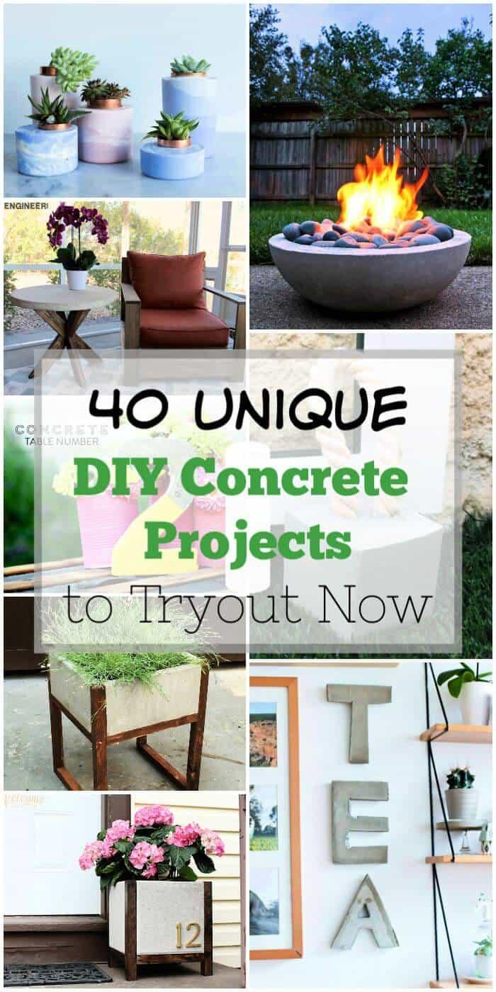 40 proyectos únicos de hormigón de bricolaje para probar ahora, manualidades de bricolaje, proyectos de bricolaje, ideas de decoración del hogar de bricolaje