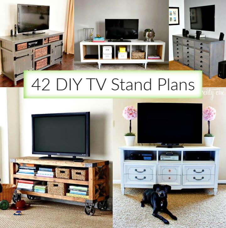 42 planos de soporte de TV de bricolaje que son fáciles de construir