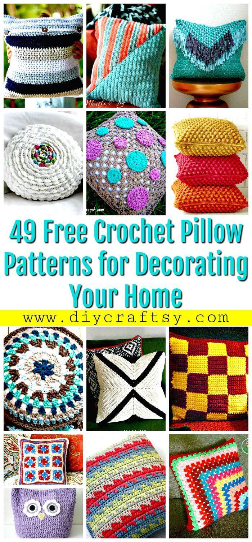 49 patrones de almohadas de ganchillo gratis para decorar su hogar - Patrones de ganchillo gratis - Manualidades de bricolaje