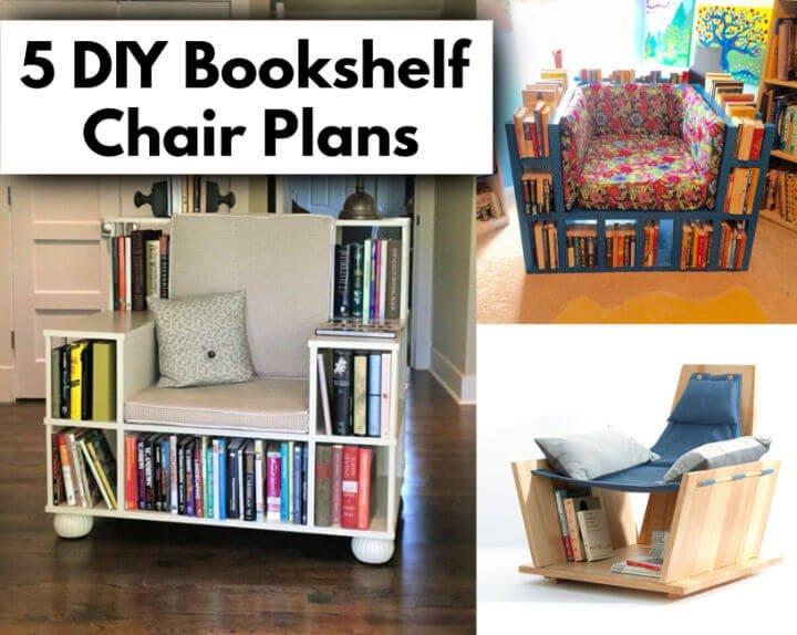 5 planes de silla de estantería de bricolaje para leer libros manualidades de bricolaje