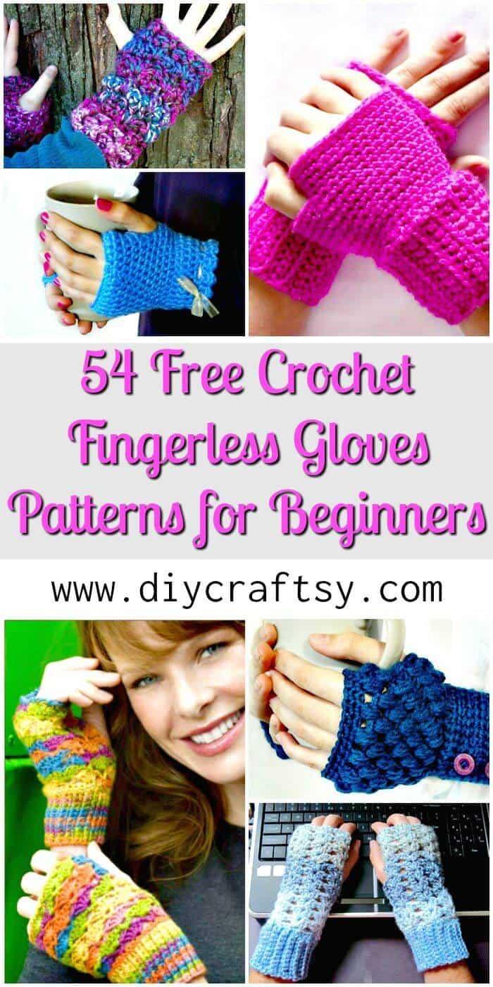54 patrones de guantes sin dedos de ganchillo gratis para principiantes - Patrones de ganchillo gratis - Manualidades de bricolaje