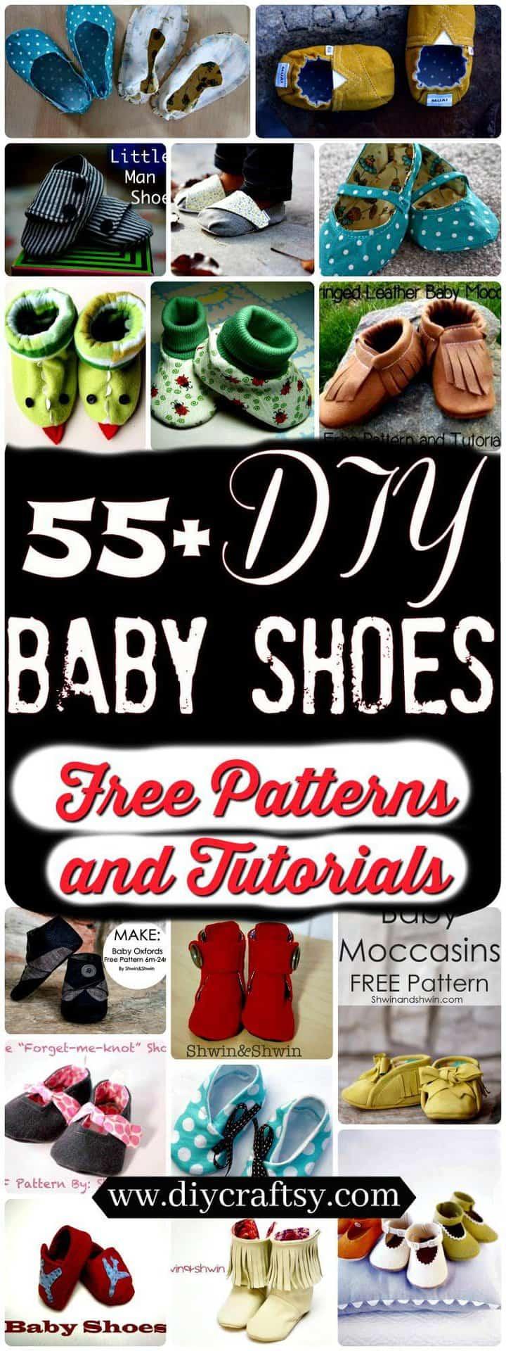 Zapatos de bebé de bricolaje