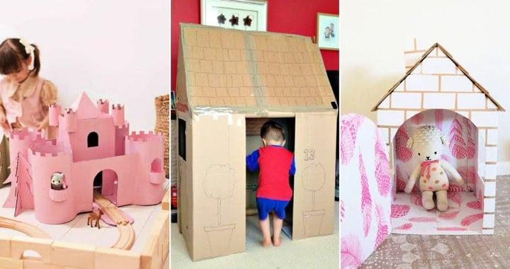 60 ideas únicas de casas de cartón para niños, mascotas y muñecas