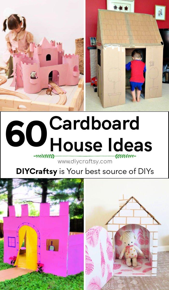 60 ideas únicas de casas de cartón