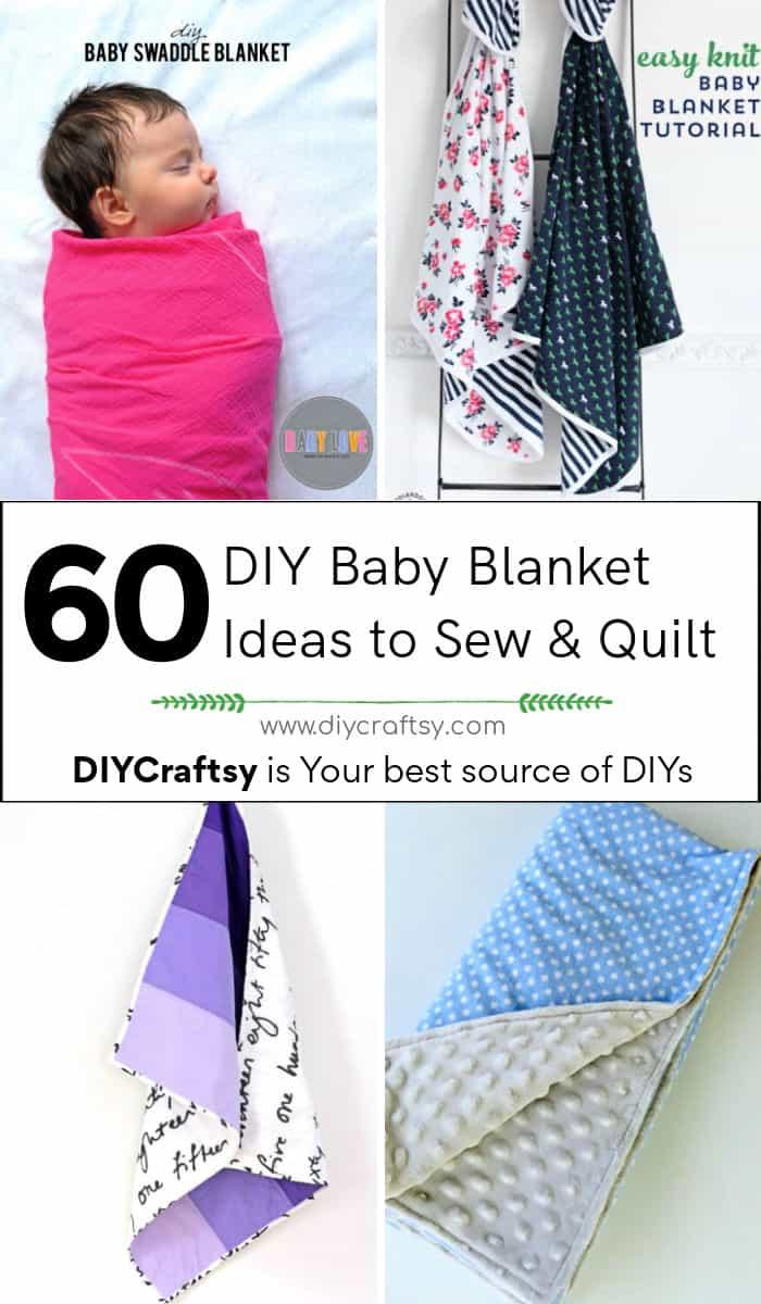60 ideas fáciles de hacer mantas de bebé para coser y acolchar 1