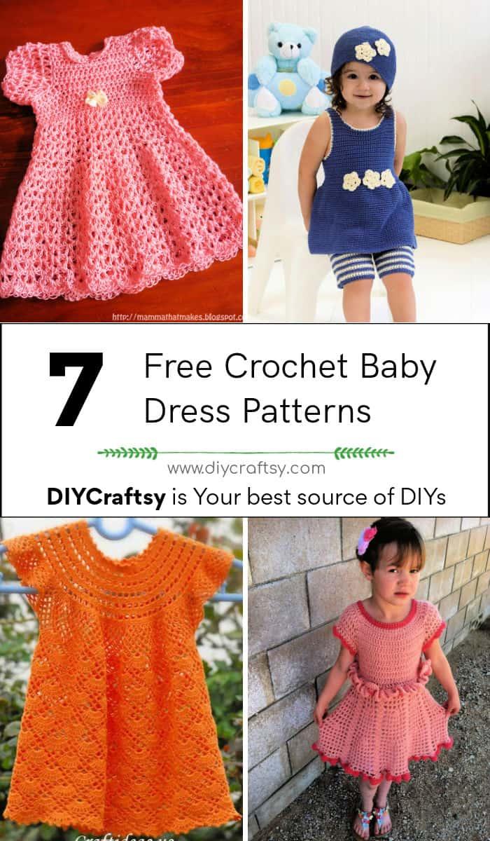 7 mejores patrones de vestidos de bebé de ganchillo gratis