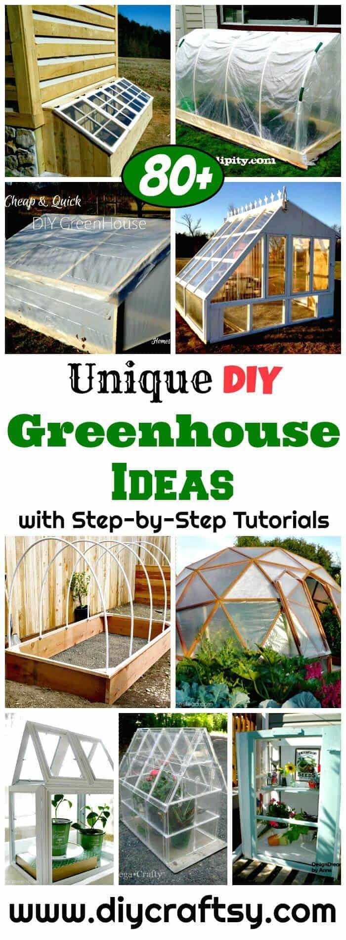 Ideas de invernadero de bricolaje