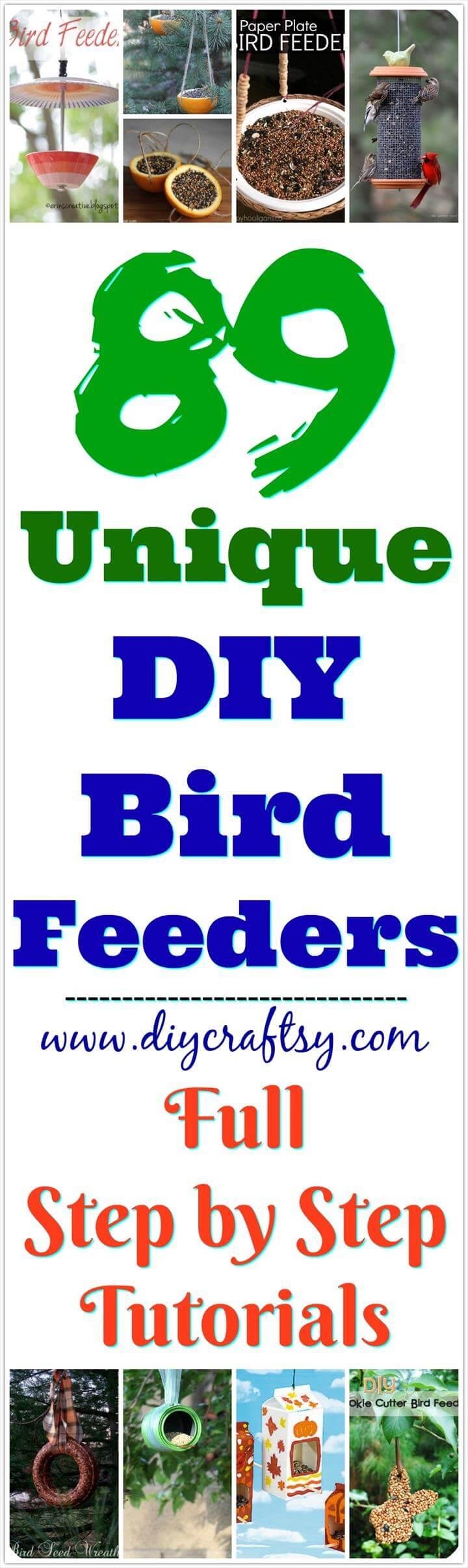 Ideas para comederos de pájaros de bricolaje