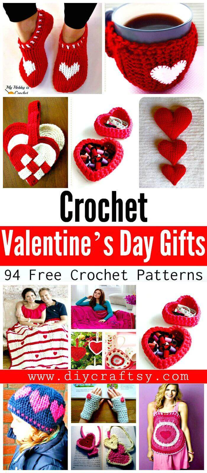 Free Crochet Patterns for Valentine's Day Gifts - DIY Crafts