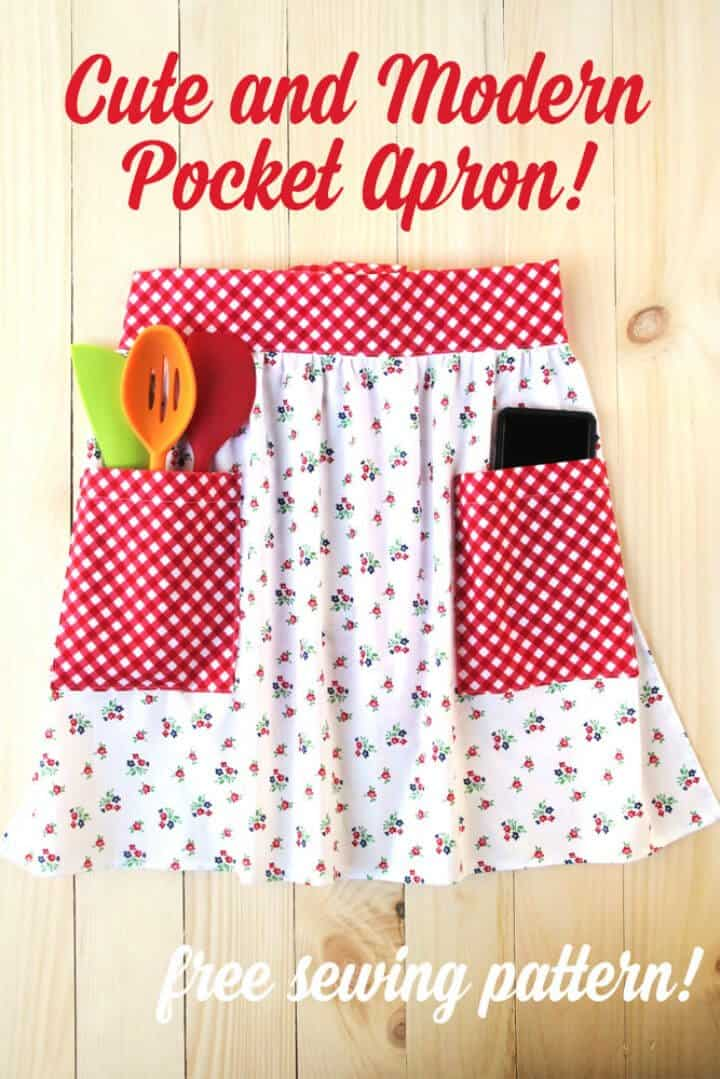 Un delantal de bolsillo lindo y moderno
