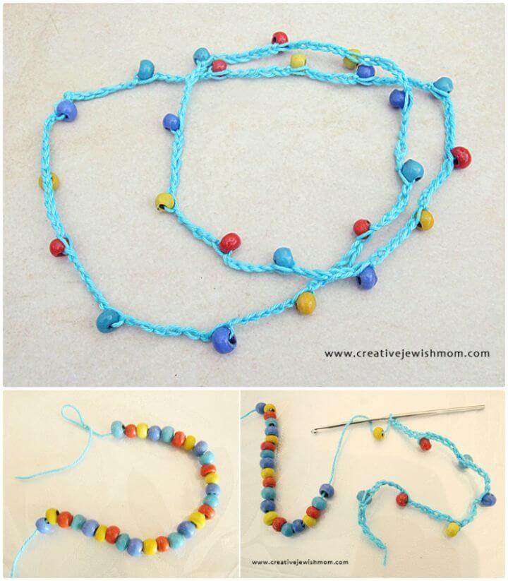 Un collar de ganchillo súper simple que incluso los niños pueden hacer: patrón gratuito