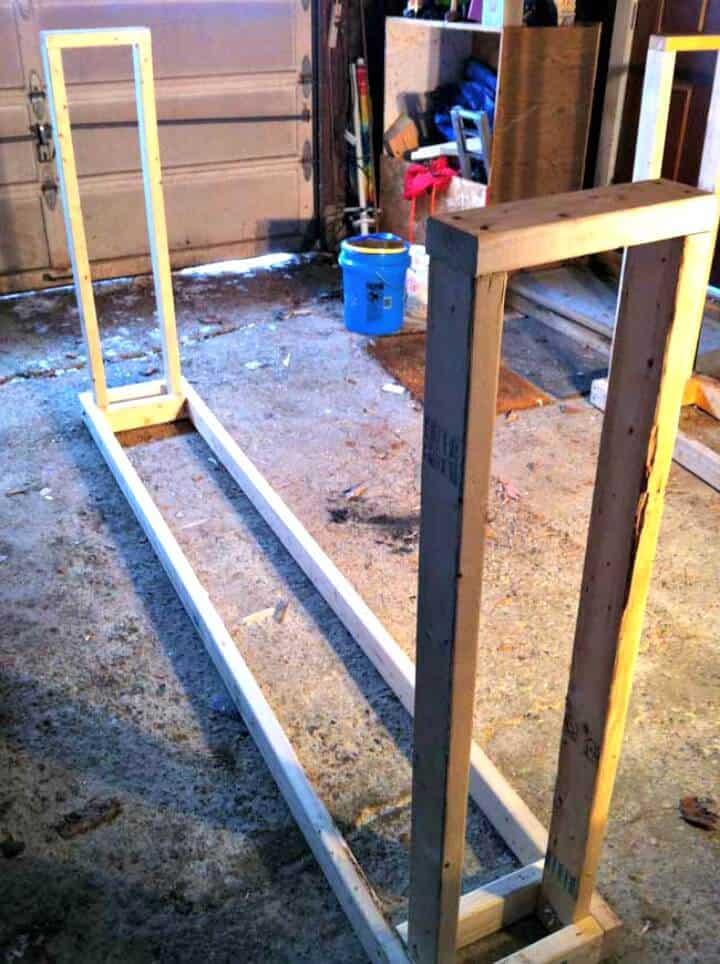 Estante de madera de bricolaje súper fuerte por aproximadamente $ 12