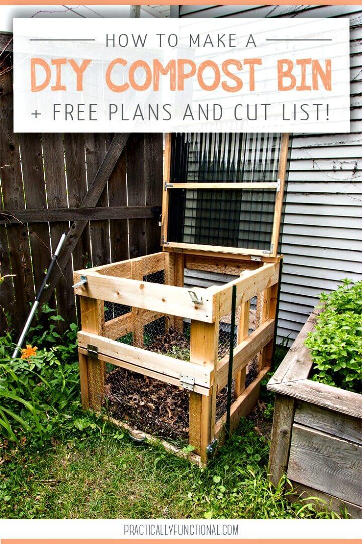 Cómo hacer un contenedor de abono - Plan de madera de bricolaje gratuito