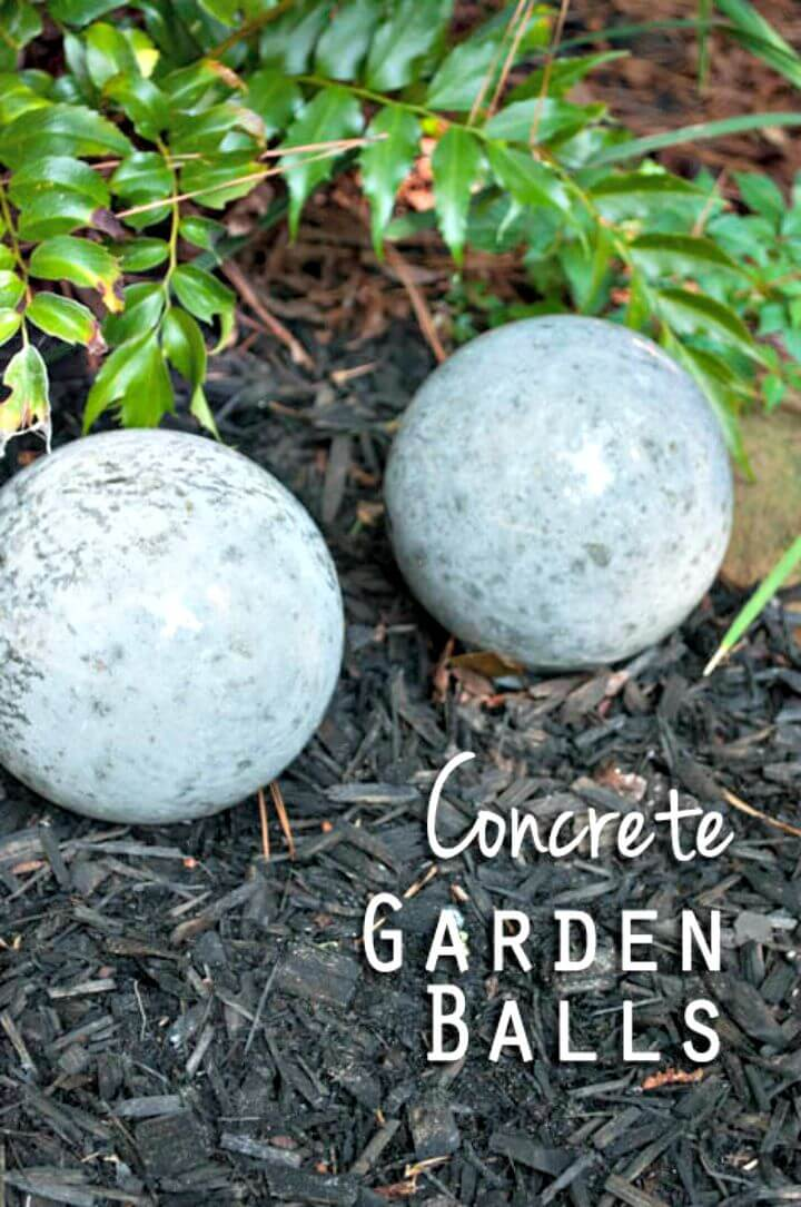 Bolas de jardín de hormigón fáciles de hacer: bricolaje