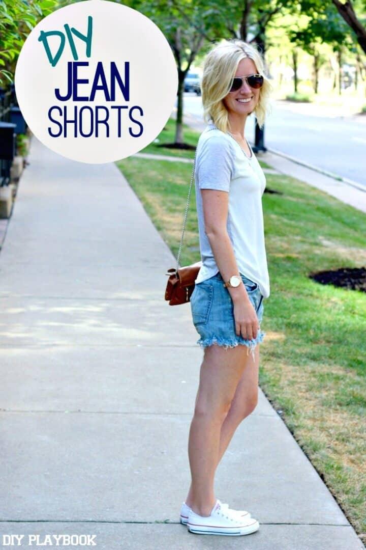 Adorable pantalones cortos de mezclilla DIY