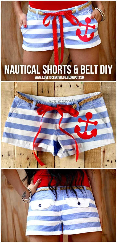 Adorable marinero náutico DIY Shorts
