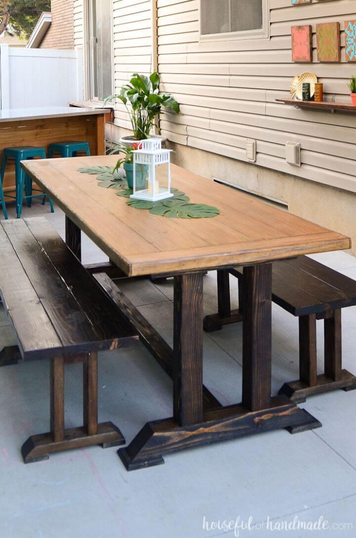 Adorable mesa de comedor al aire libre de bricolaje
