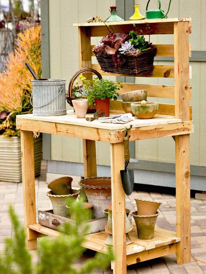 Cómo construir un banco para macetas de jardín - Ideas de muebles de jardín de bricolaje