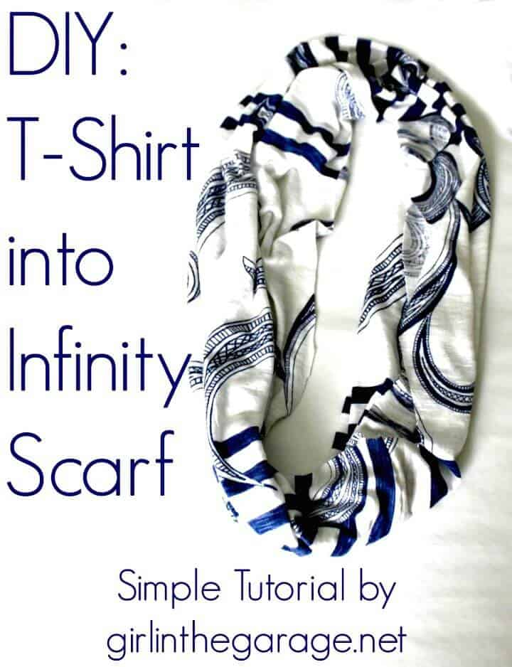 Adorable camiseta DIY en Infinity Pañuelo