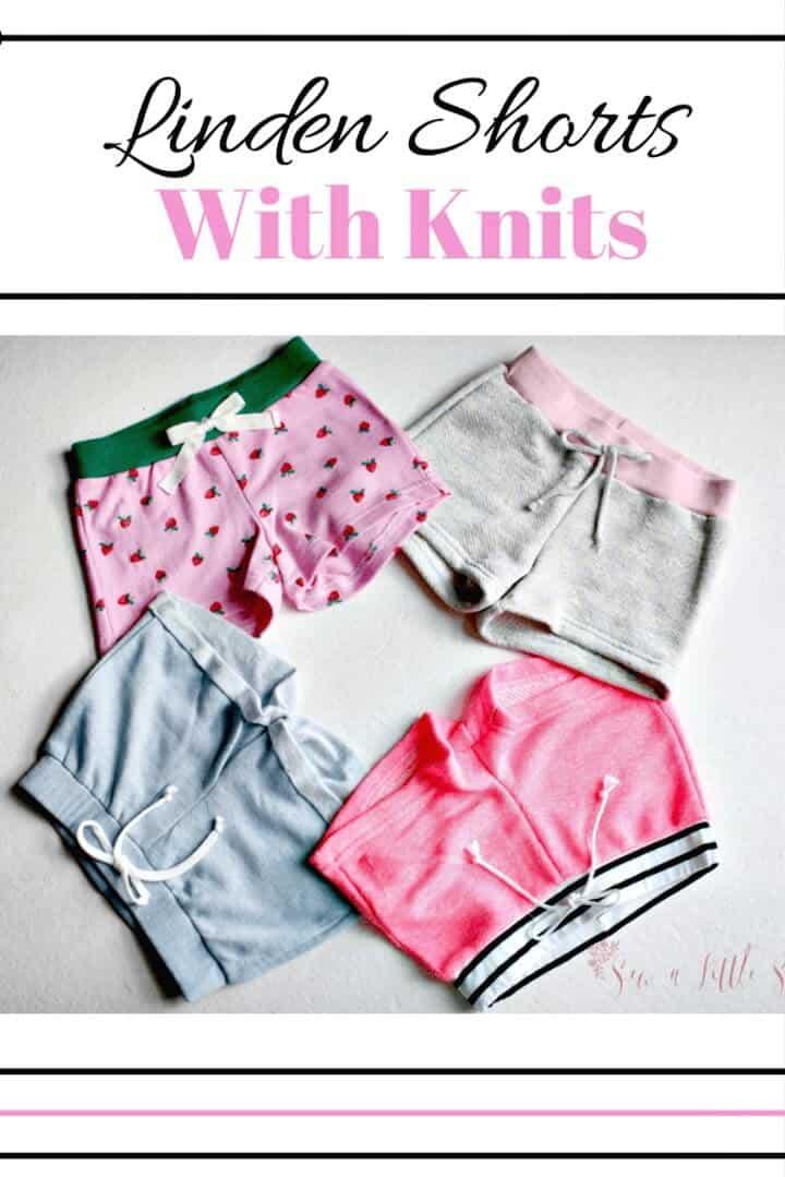 Adorables y lindos pantalones cortos de tilo DIY con punto