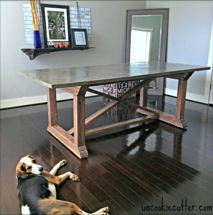 Increíble mesa de comedor de hormigón de bricolaje