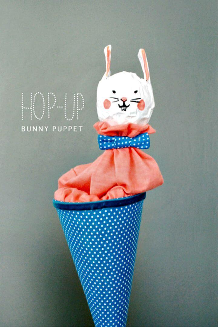 Increíble marioneta de conejito Hop-up DIY