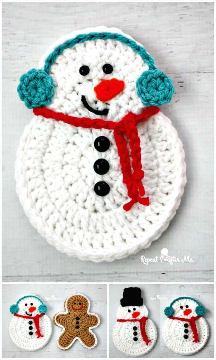 Increíble patrón de muñeco de nieve de ganchillo gratis